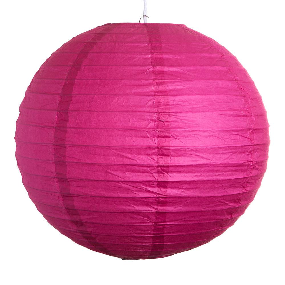 Set Of 3 Pink Paper Lanterns Hometown Evolution Inc