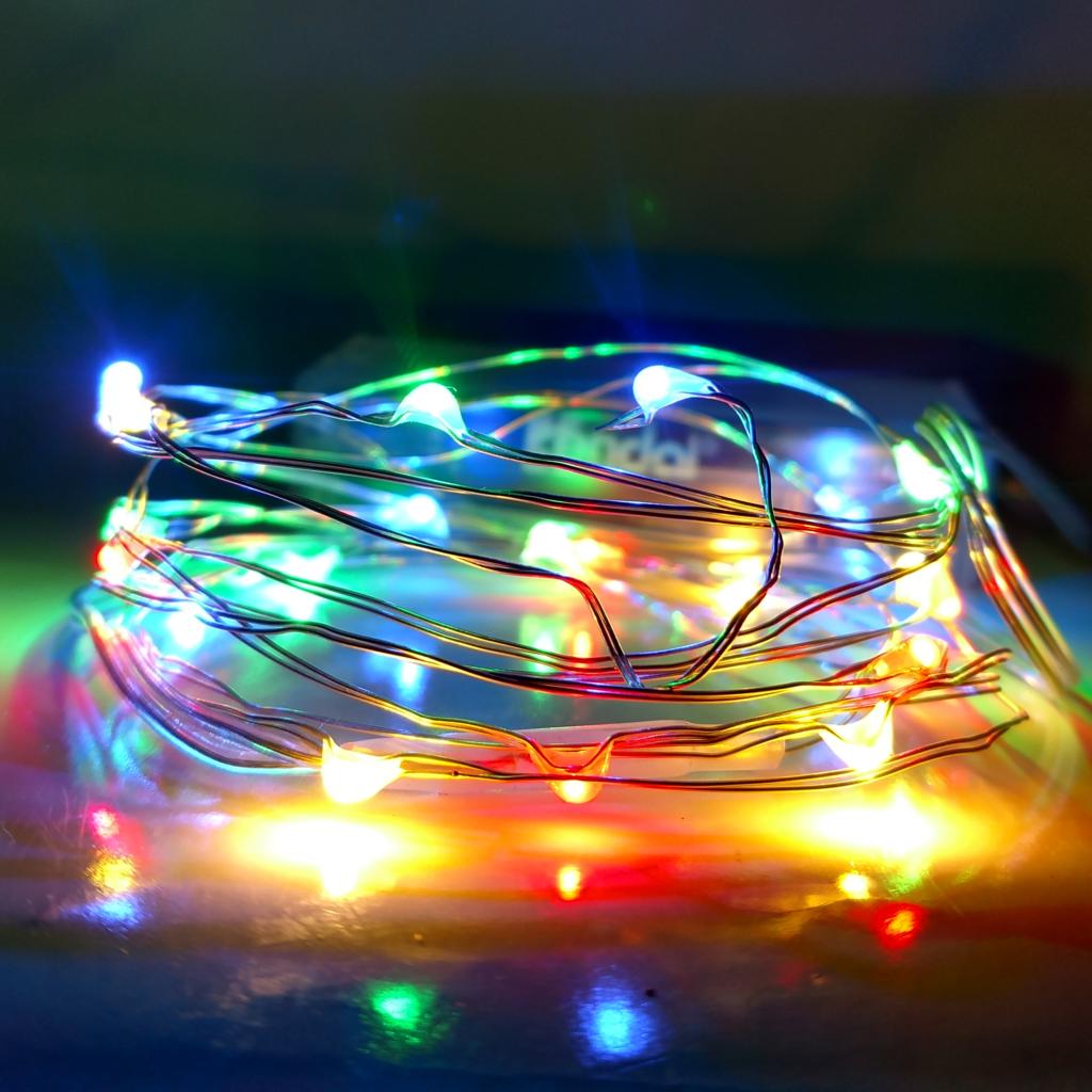 16 5 Foot Battery Powered Led Fairy Lights 50 Multi