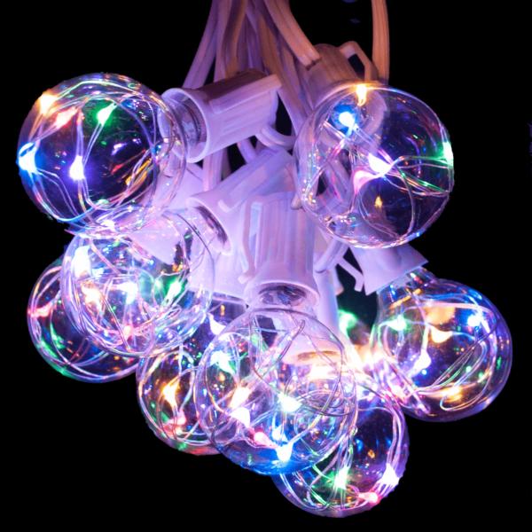 Multicolor G40 globe string lights