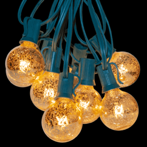 Mercury gold string lights