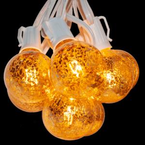 G50 MERCURY bulbs on white cord